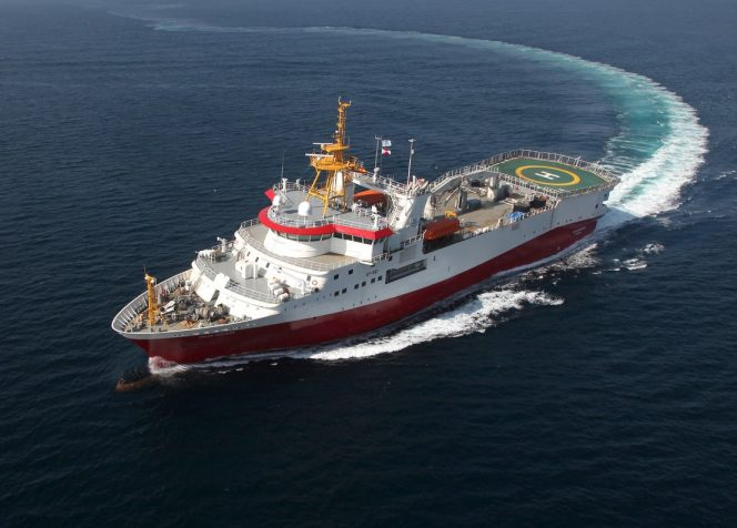 Polar Duchess seismic vessel / Photo Credit: GC Rieber Shipping