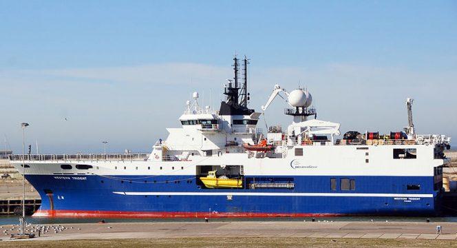 Western Trident, Western Geco, Wikimedia, Schlumberger seismic vessel