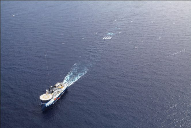 For illustration only; A CGG vessel towing seismic streamers / Image source: CGG