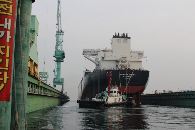 Teekay's first LNG-powered shuttle tanker launched