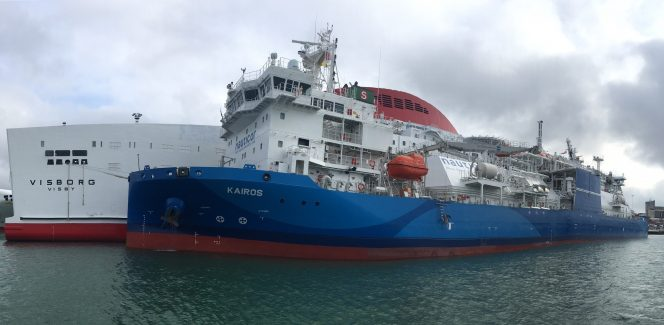 Kairos supplies LNG to Destination Gotland's ferry in Visby