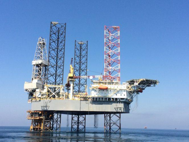 Illustration only: A Shelf Drilling jack-up rig / Image source: Dubai Petroleum