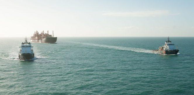 Illustration: Armada Kraken FPSO being towed by ALP tugs / Image source: ALP Maritime