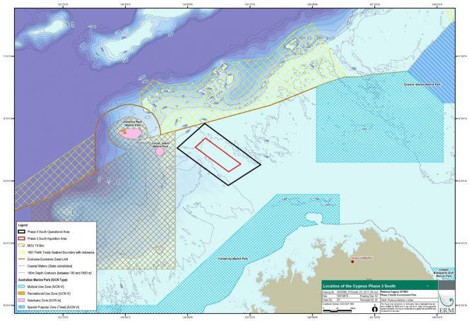 Cygnus South Phase 3 Map / Source: NOPSEMA