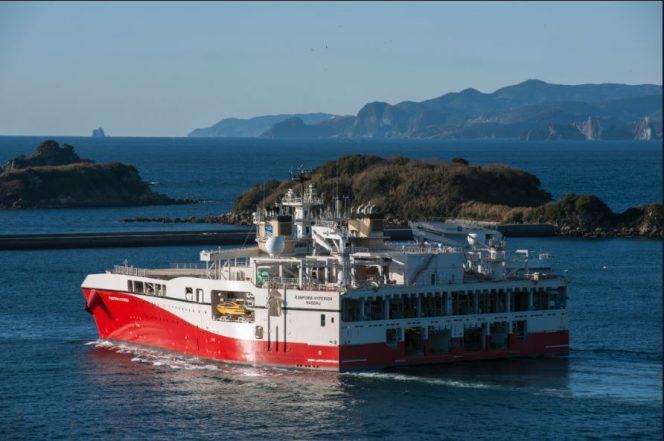 A Ramform-class seismic vessel / Image source: PGS