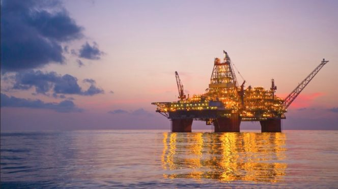 Illustration only: BP's Thunderhorse platform in the Gulf of Mexico; Image source: BP