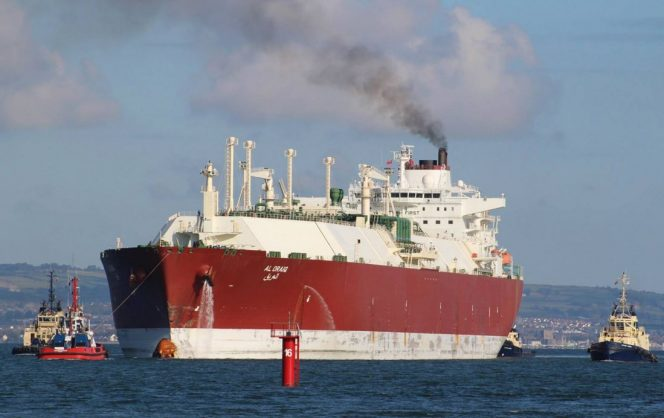 Qatari cargo heading for UK's South Hook LNG