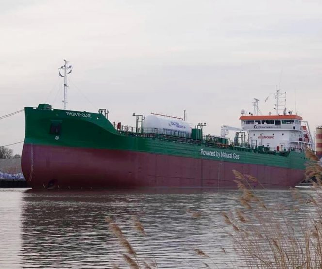 Thun Tankers takes delivery of LNG-powered tanker