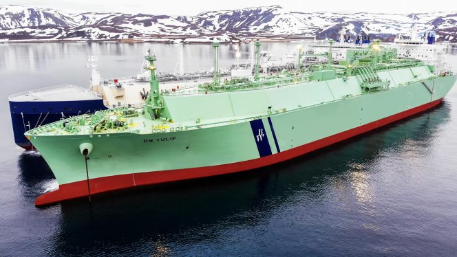BW Tulip completes 8th STS LNG transfer of Honningsvåg