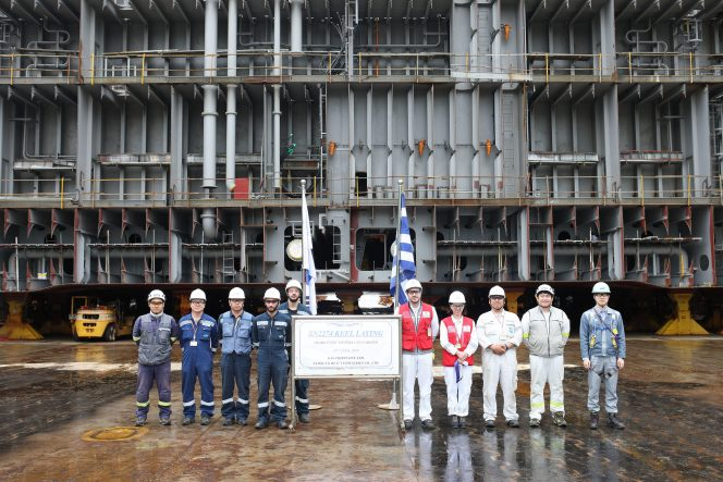 GasLog lays keel for new LNG carrier at SHI