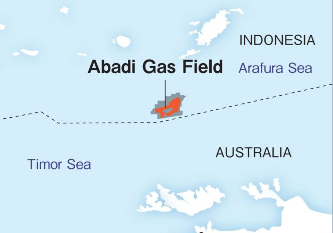Abadi gas field / Map by Inpex