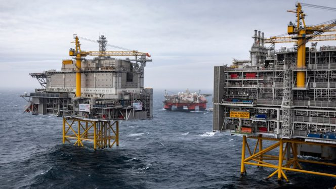 The Johan Sverdrup field in the North Sea / Image by Equinor