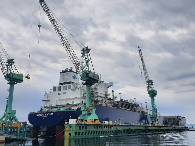 GasLog's newbuild LNG carrier launched at Samsung Heavy