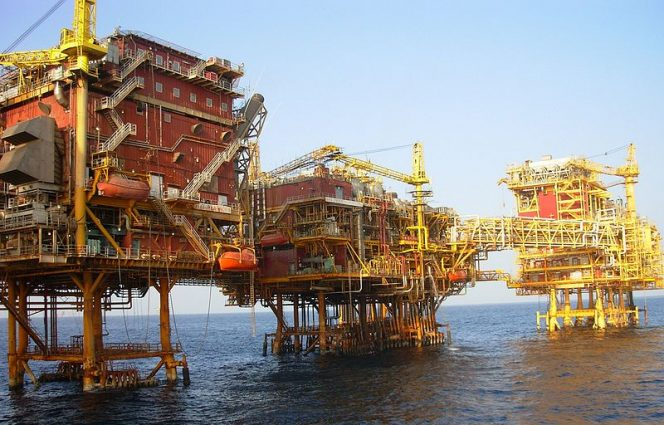 Illustration only: ONGC offshore platform -