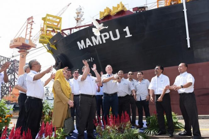 MAMPU-1 FPSO during launching ceremony back in 2016 / Image source: MISC