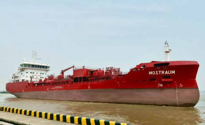 Utkilen takes delivery of LNG-ready chemical tanker