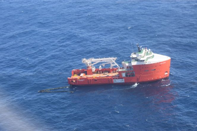 Paul A Sacuta vessel responding to the Hibernia oil spill