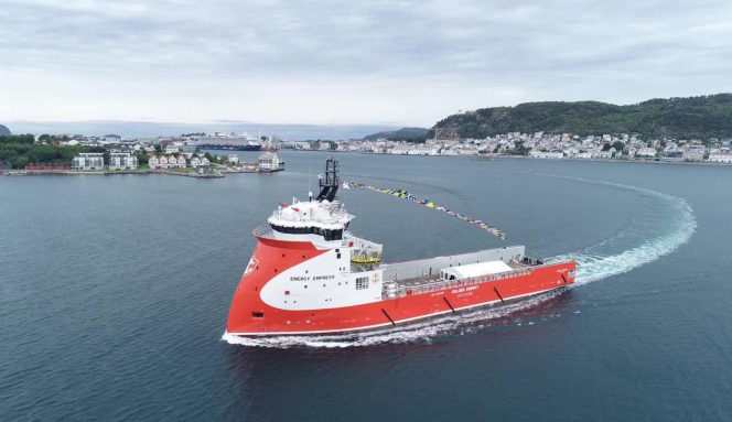 Energy Empress during naming ceremony in Alesund, Norway - Image by Ulstein