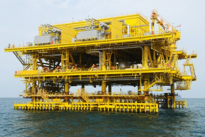 Illustration: A Saudi Aramco platform - Photo: Business Wire