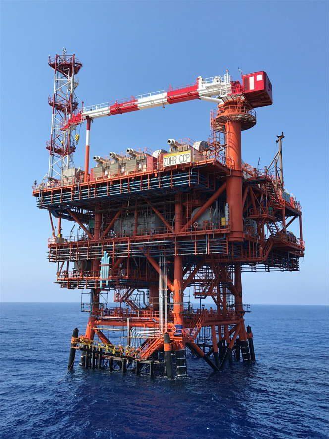 Zohr platform in the Mediterranean / Image source: Eni