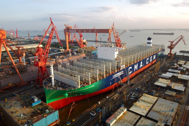 CMA CGM launches first 23,000 TEU LNG-powered boxship