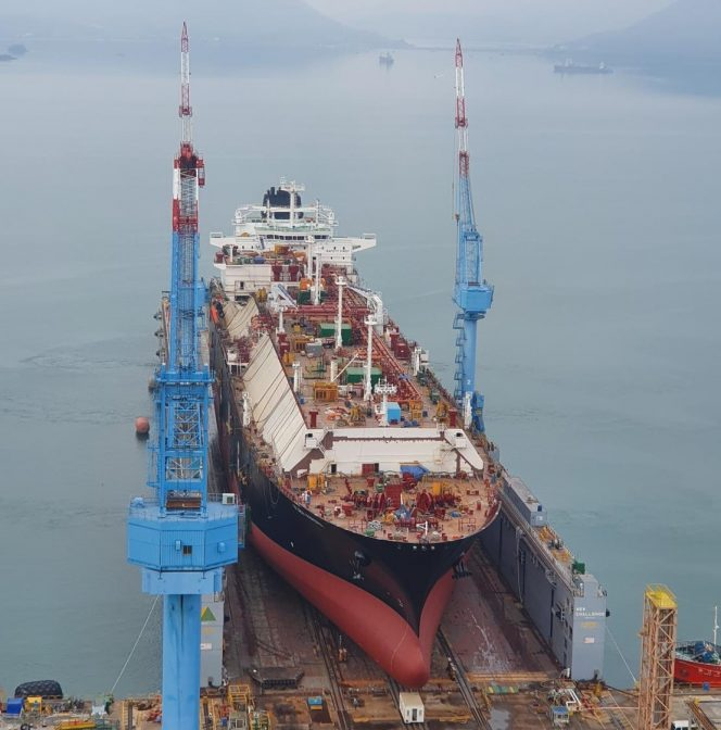 Flex LNG newbuild launched in South Korea