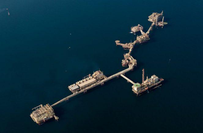 Illustration: An ADNOC offshore platform complex offshore Abu Dhabi / Image source: ADNOC
