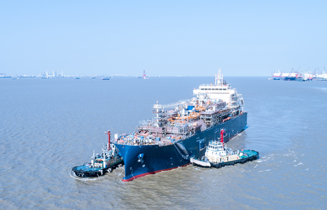 Total launches its large LNG bunker vessel in China