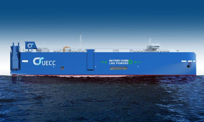 UECC orders third battery hybrid LNG car carrier