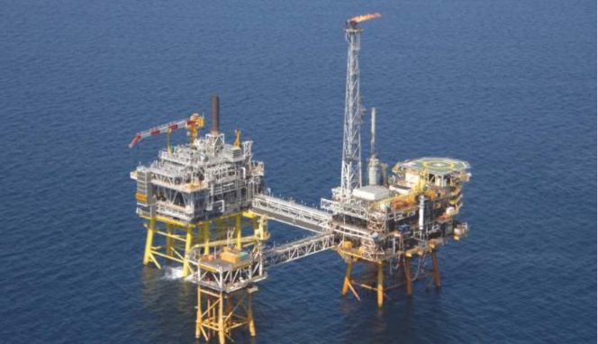 A platform complex which is a part of the Sable Offshore Energy Project