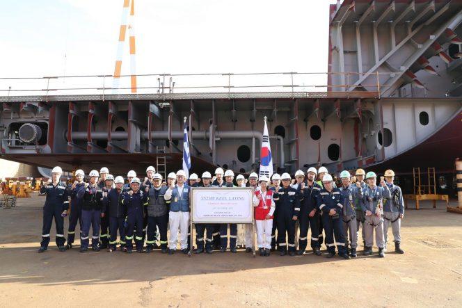 SHI lays keel for GasLog's LNG newbuild
