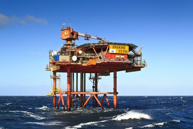 Erskine platform in the UK North Sea / Image by Chevron