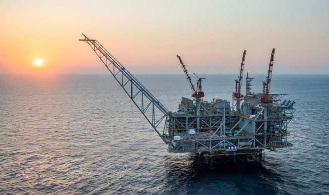 Fully constructed Leviathan platform / Image by Noble Energy