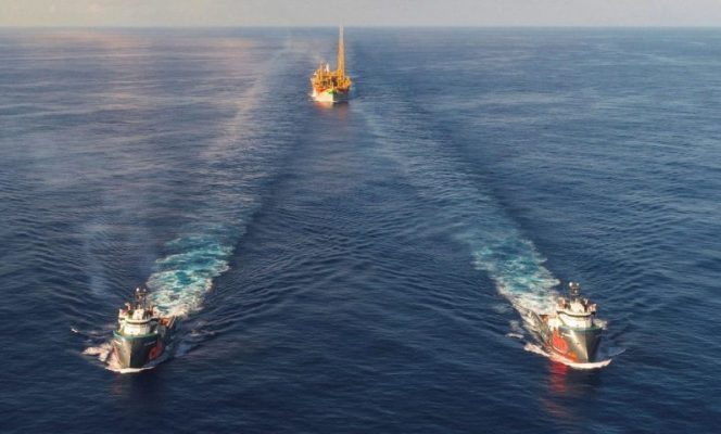 Liza Destiny FPSO on its way to ExxonMobil's Liza field in offshore Guyana; Source: Hess