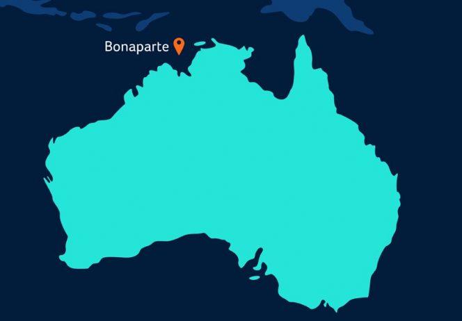 Bonaparte basin map