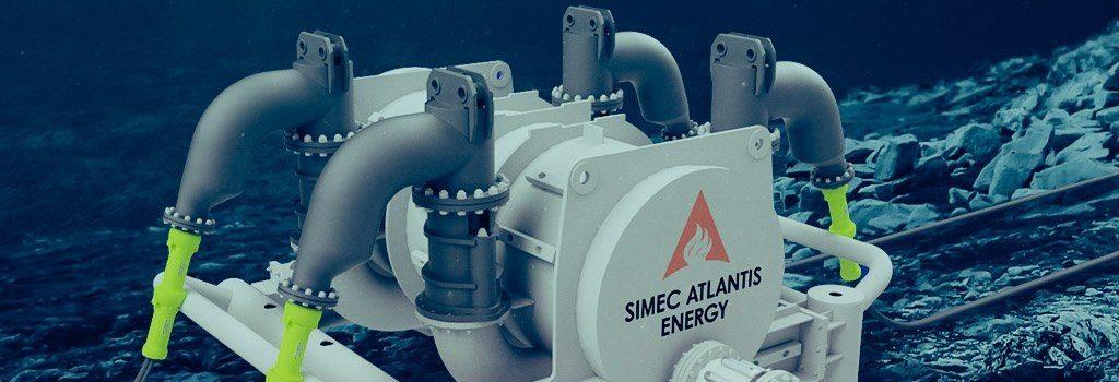 subsea tidal turbine connection hub