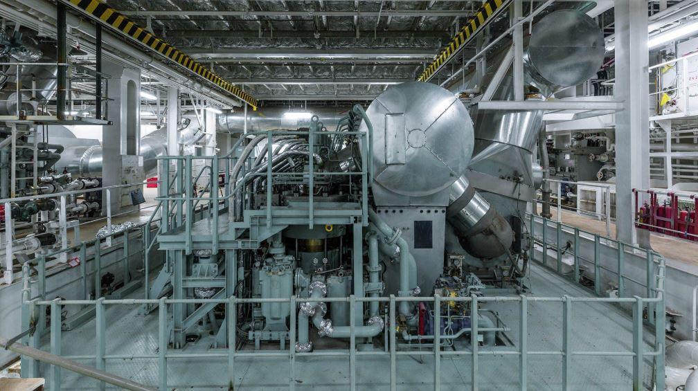 An LNG engine on board ship