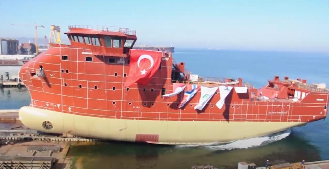 MHI Vestas SOV touches water in Turkey