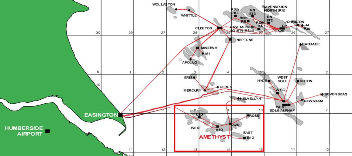 Amethyst location; Source: Perenco