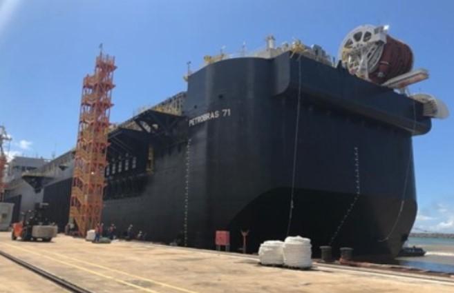 P-71 FPSO hull; Source: Petrobras