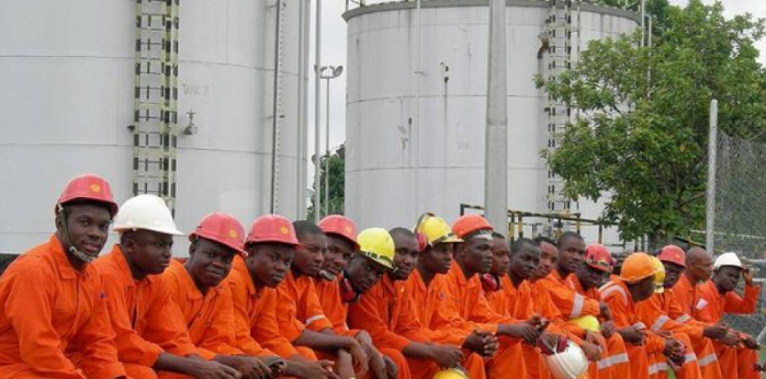 Oil workers in Gabon; Source: African Energy Chamber