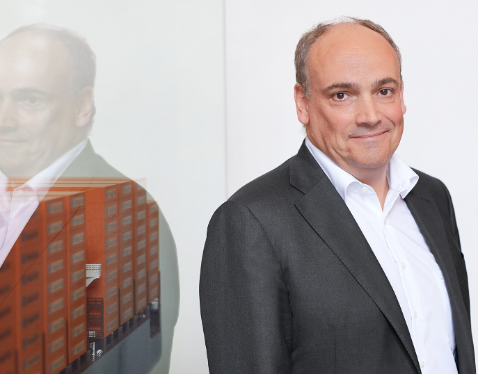 CEO of the German container shipping company Hapag-Lloyd Rolf Habben Jansen