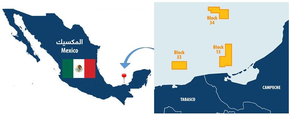 Location of the blocks; Source: Qatar Petroleum
