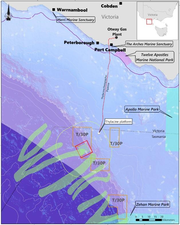 Proposed survey location; Source: NOPSEMA