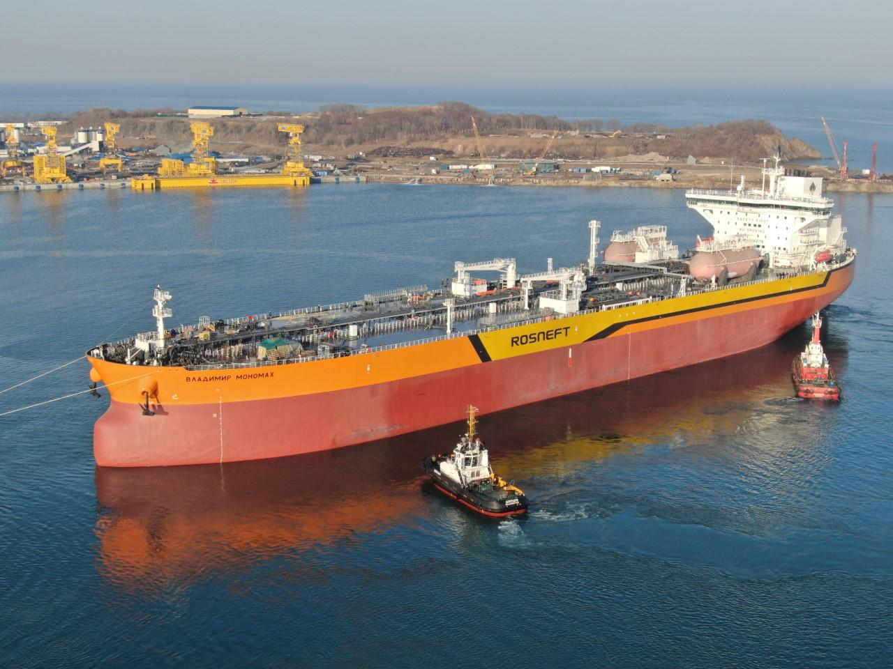 Aframax tanker named Vladimir Monomakh.