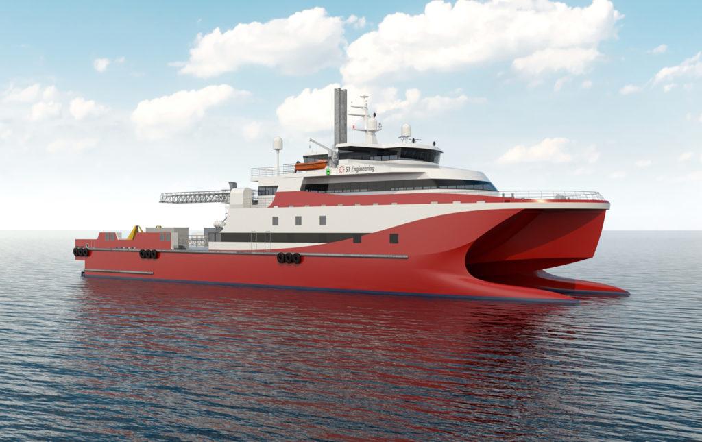 ST Engineering LNG-powered catamaran