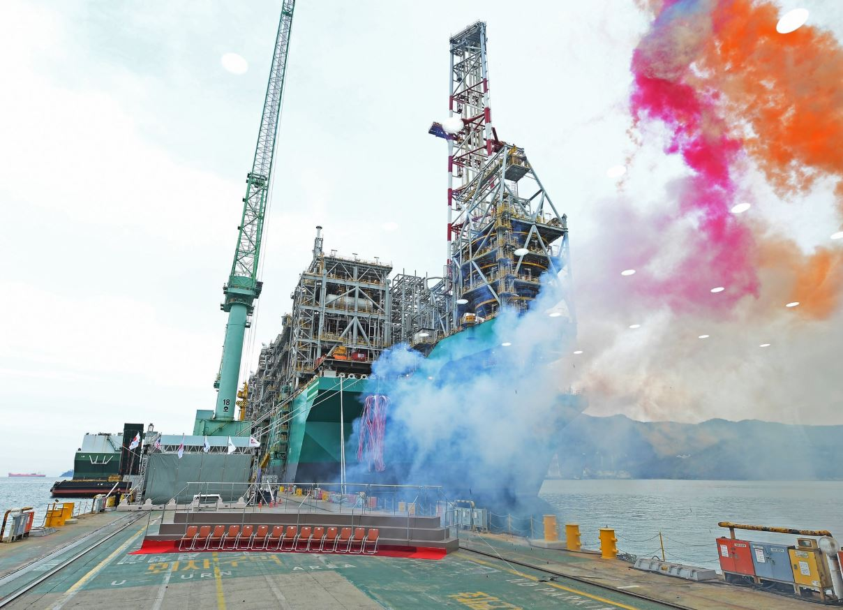 PFLNG Dua naming ceremony in November 2019