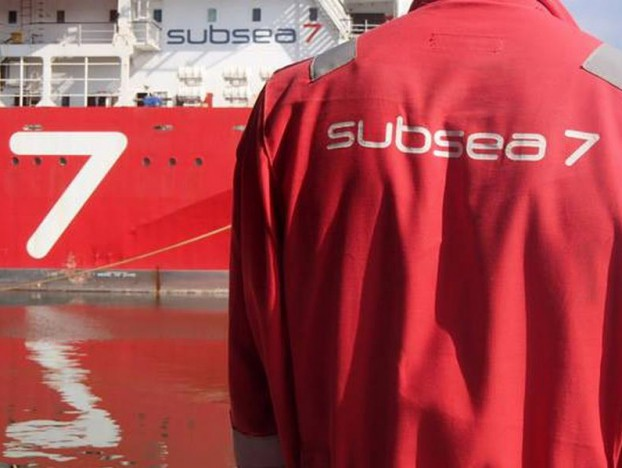 Subsea 7 worker and vessel