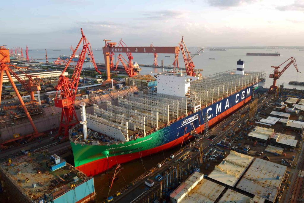 CMA CGM LNG-powered vessel