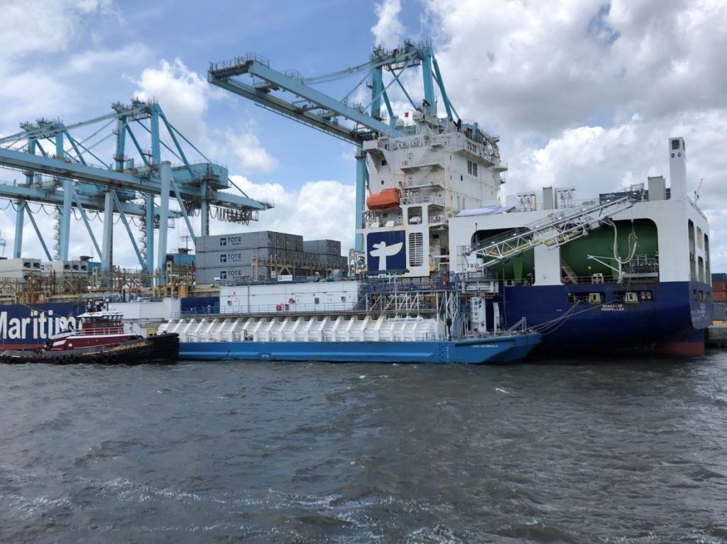 Clean Jacksonville supplies LNG to Tote's containership